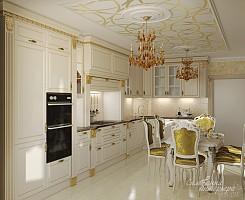 Классическая кухня бежевого цвета
