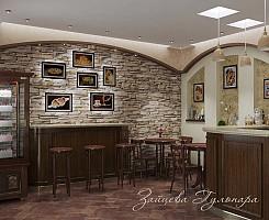 Дизайн кафе в стиле шале