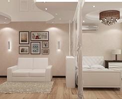 Современный стиль в однокомнатной квартире